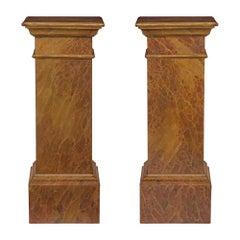 Italian 19th Century Louis XVI Style Column Pedestals
