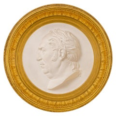 Italian 19th Century Louis XVI Style Giltwood and Plaster Wall Plaque