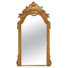 Italian 19th Century Louis XVI Style Giltwood Mirror