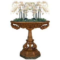 Italian 19th Century Louis XVI Style Mecca and Faux Painted Marble Planter