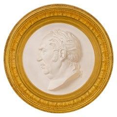 Italian 19th Century Louis XVI Style Plaque, Signed P. GRASS 1864