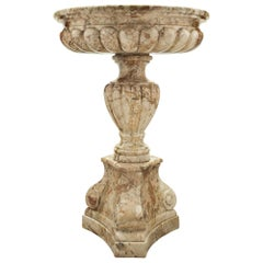 Italian 19th Century Louis XVI Style Sarrancolin Marble Bird Bath