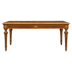 Italian 19th Century Louis XVI Style Walnut Center Table