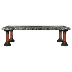 Italian 19th Century Marble Coffee Table