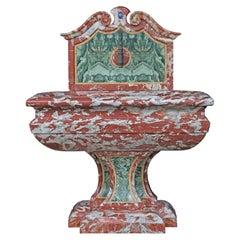 Italian 19th Century Marble Fountain