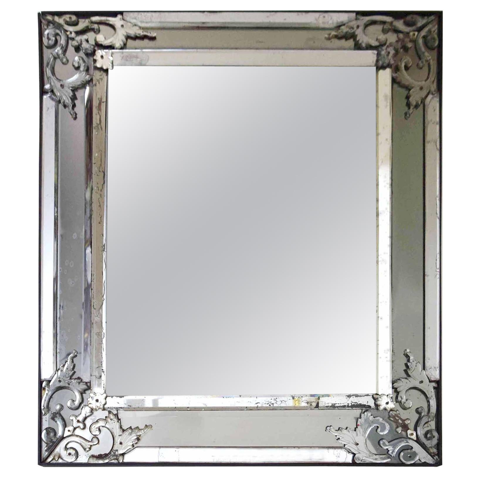 Italian 19th Century Mirror-Framed Mirror