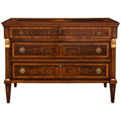Italian 19th Century Neo-Classical St. Commode, in the Manner of Maggiolini