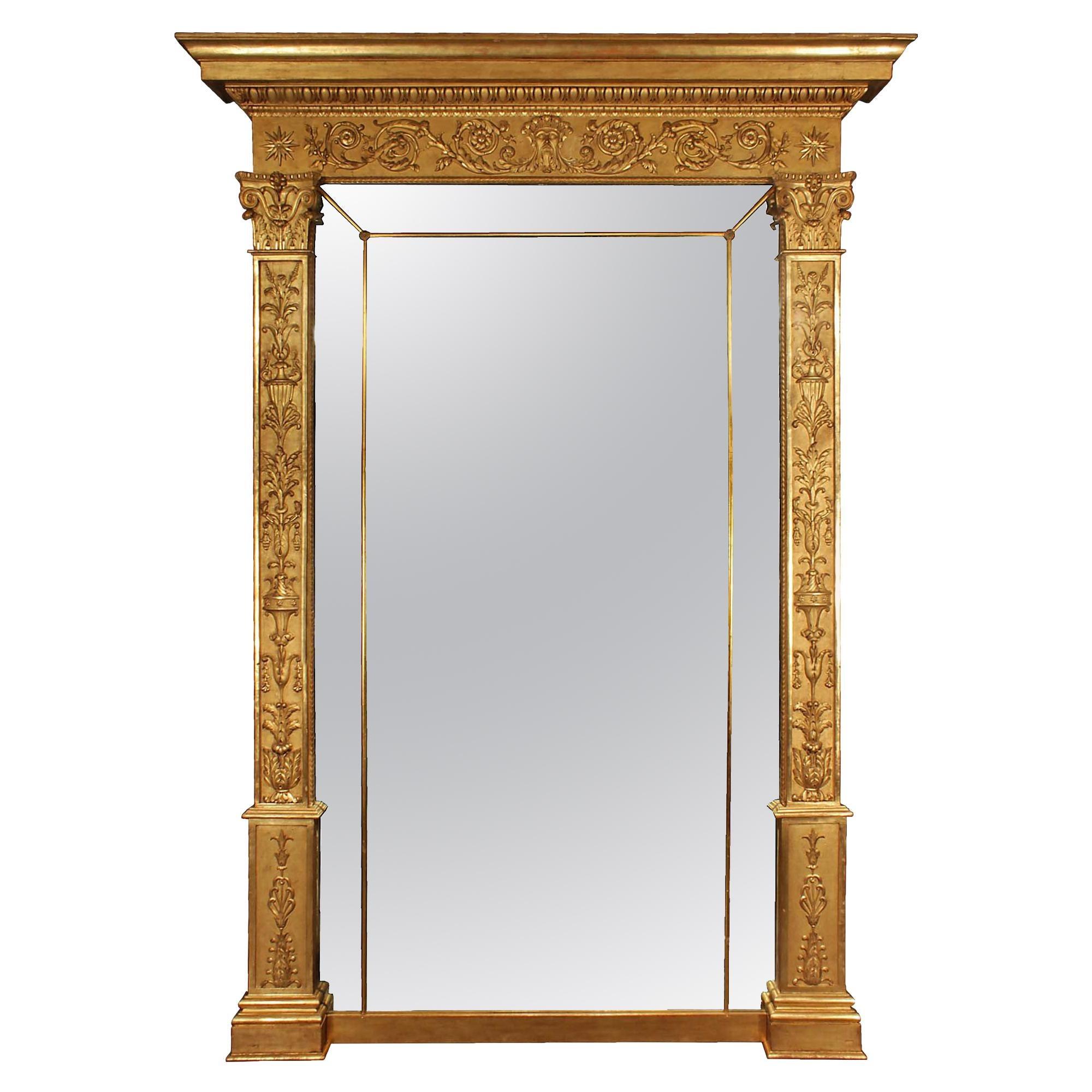 Italian 19th Century Neoclassical Style Giltwood Mirror