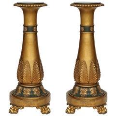Italian 19th Century Neoclassical St. Giltwood Pedestals