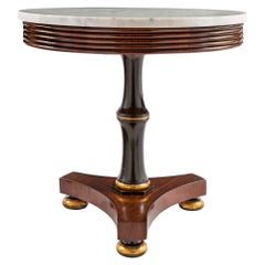Italian 19th Century Neoclassical Style Mahogany and Marble Side Table