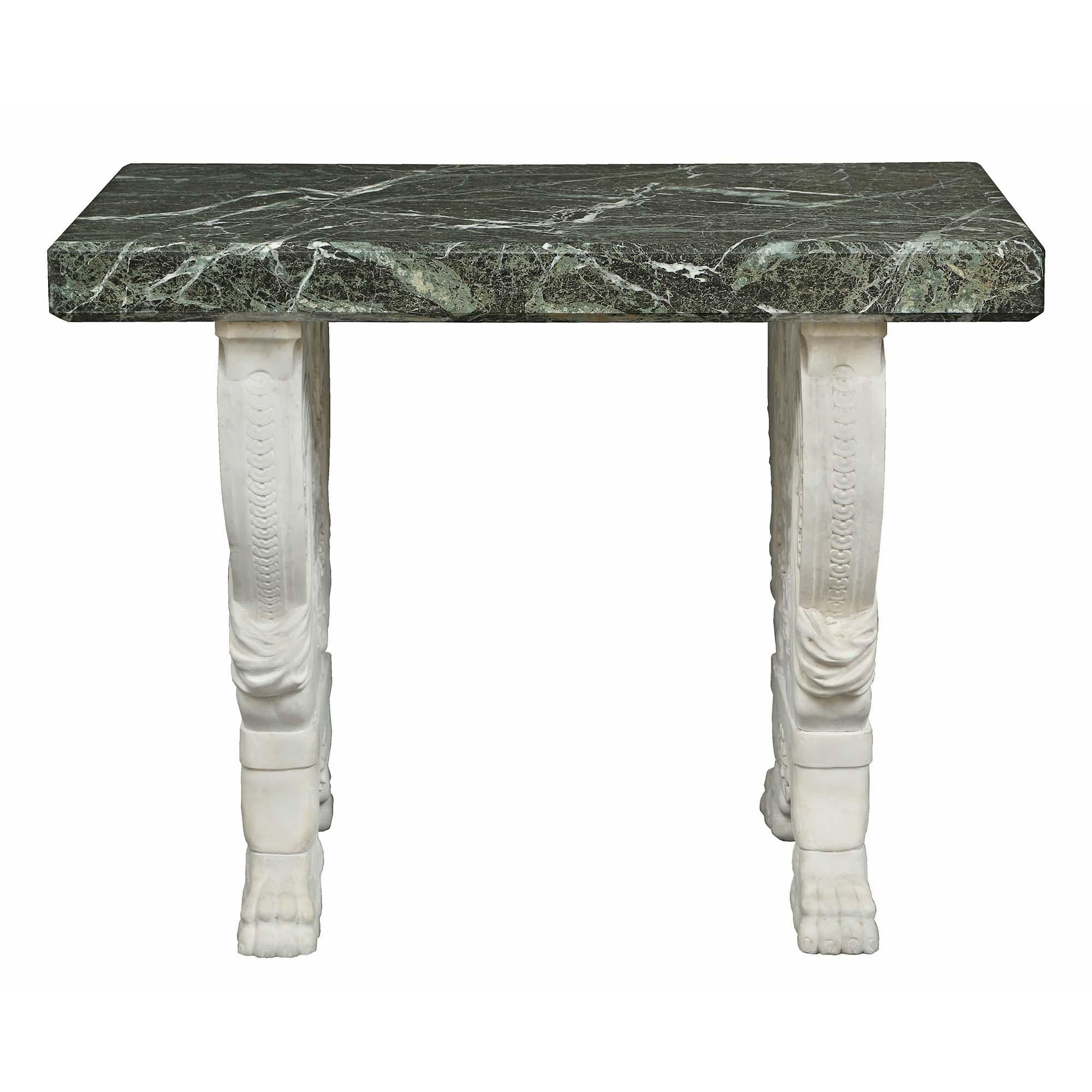 Italian 19th Century Neoclassical Style Marble Center Table For Sale At 1stdibs