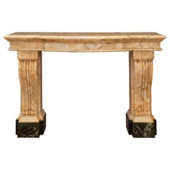 Italian 19th Century Neoclassical Style Sarrancolin and Marble Console