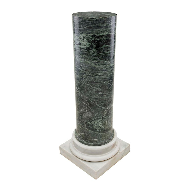 Italian 19th Century Neoclassical Style Green Marble Columns For Sale 1
