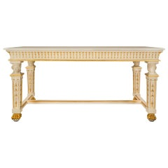 Italian 19th Century Neoclassical Style Giltwood and Marble Center Tab