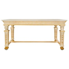 Italian 19th Century Neoclassical Style Giltwood and Marble Center Table