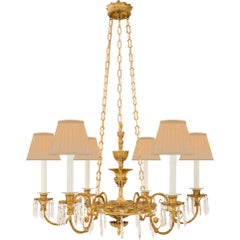Italian 19th Century Neoclassical Style Giltwood and Ormolu Chandelier