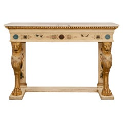 Italian 19th Century Neoclassical Style Giltwood Freestanding Console