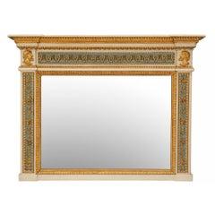 Italian 19th Century Neoclassical Style Giltwood Trumeau Mirror