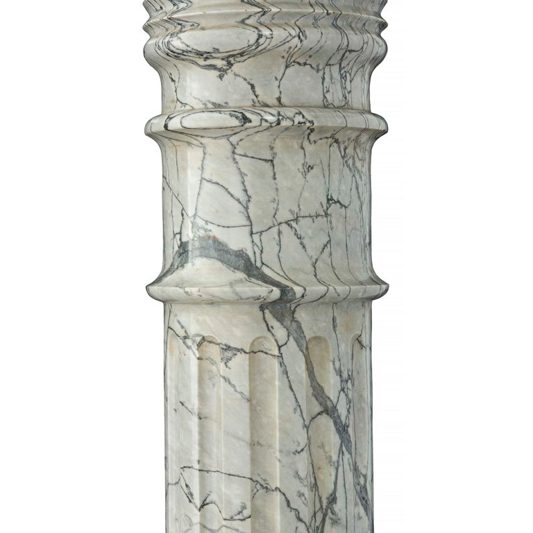 Italian 19th Century Neoclassical Style Marble and Onyx Pedestal Column For Sale 3