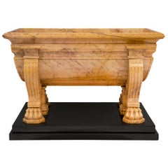 Italian 19th Century Neoclassical Style Marble Centerpiece Planter