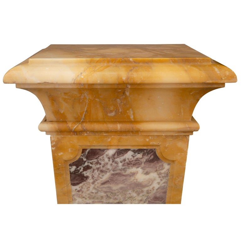 Italian 19th Century Neoclassical Style Marble Pedestal Column For Sale 1