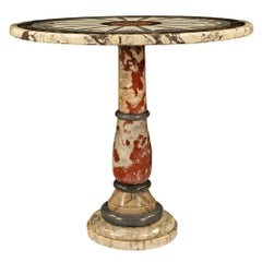 Italian 19th Century Neoclassical Style Marble Side or Center Table