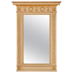 Italian 19th Century Neoclassical Style Patinated and Giltwood Mirror