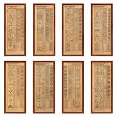 Italian 19th Century Neoclassical Style Prints in Their Original Walnut Frames