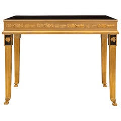 Italian 19th Century Neoclassical Style Solid Ormolu Center Table