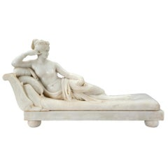 Italian 19th Century Neoclassical White Carrara Marble Sculpture