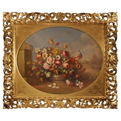 Italian 19th Century Oil on Canvas Still Life Painting