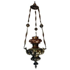 Italian 19th Century  One Light Copper and Brass Lantern