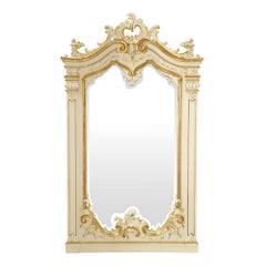 Italian 19th Century Patinated and Gilt Venetian Mirror