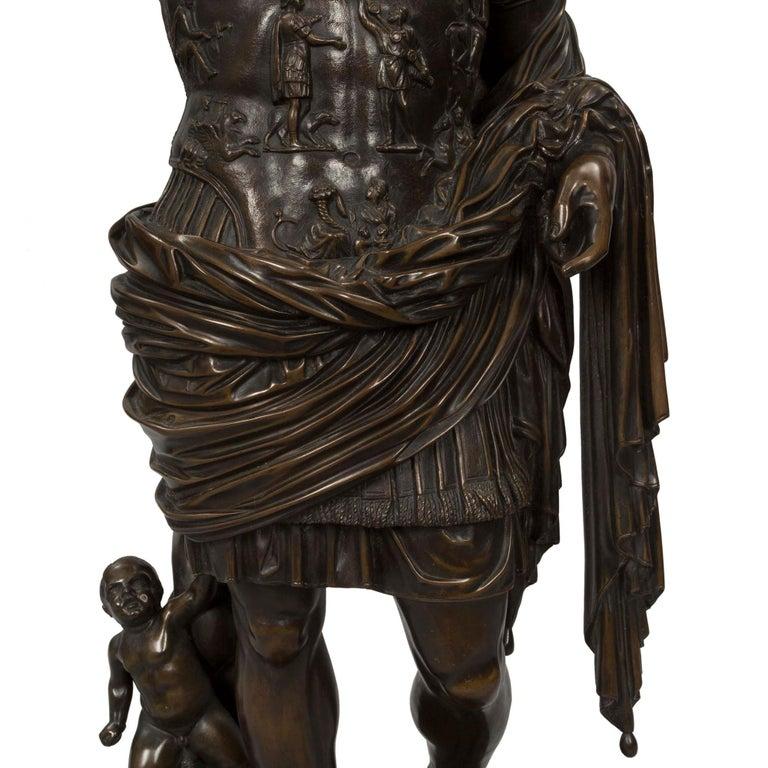 Italian 19th Century Patinated Bronze Statue of Augustus ...
