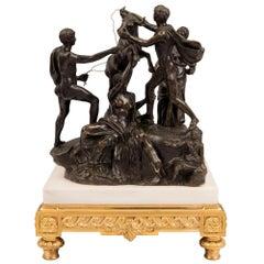 Italian 19th Century Patinated Bronze Statue of the Farnese Bull