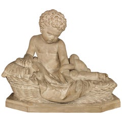 Italian 19th Century Plaster Statue of Young Baby Hercules