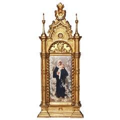 Italian 19th Century Porcelain Plaque of Madonna della Primavera, after Barabino