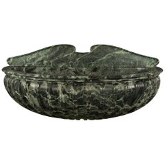 Italian 19th Century Solid Verde Antico Marble Wall Mounted Fountain or Basin