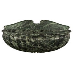 Italian 19th Century Solid Verde Antico Marble Wall-Mounted Fountain or Basin