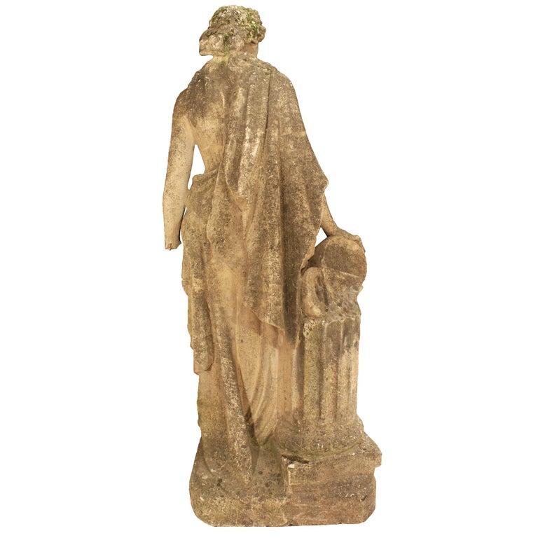 Italian 19th Century Stone Statue of a Classical Female For Sale 1