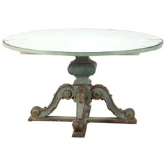Italian 19th Century Table with Mirrored Top