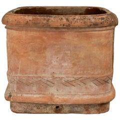 Italian 19th Century Terracotta Planter from Tuscany