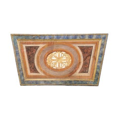 Italian 19th Century Trapezoidal Wall Plaque