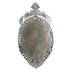 Italian 19th Century Venetian Oval Mirror