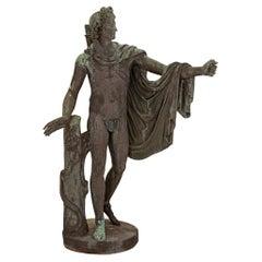 Italian 19th Century Verdigris Bronze Statue of Apollo