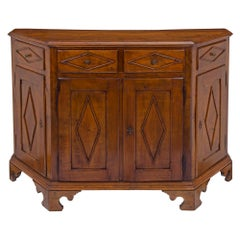 Italian 19th Century Walnut Buffet