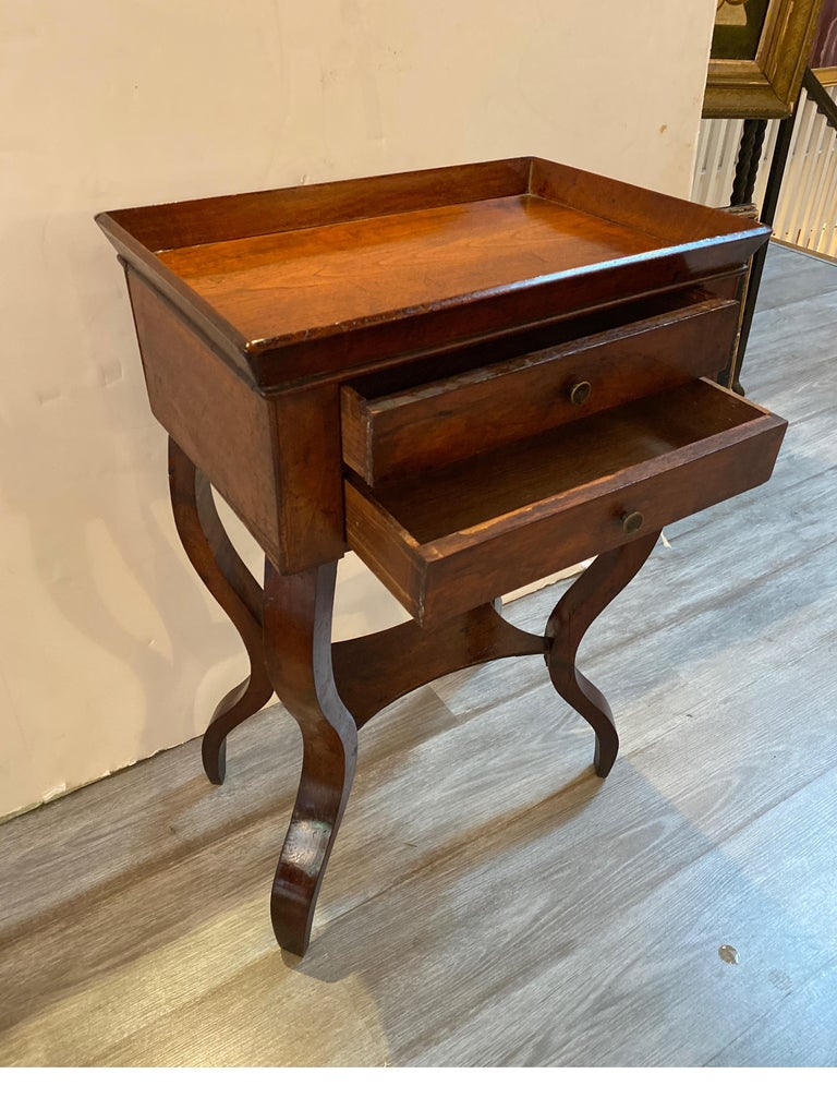 Italian 19th Century Walnut Side Table For Sale 1