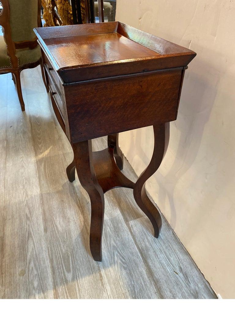 Italian 19th Century Walnut Side Table For Sale 2