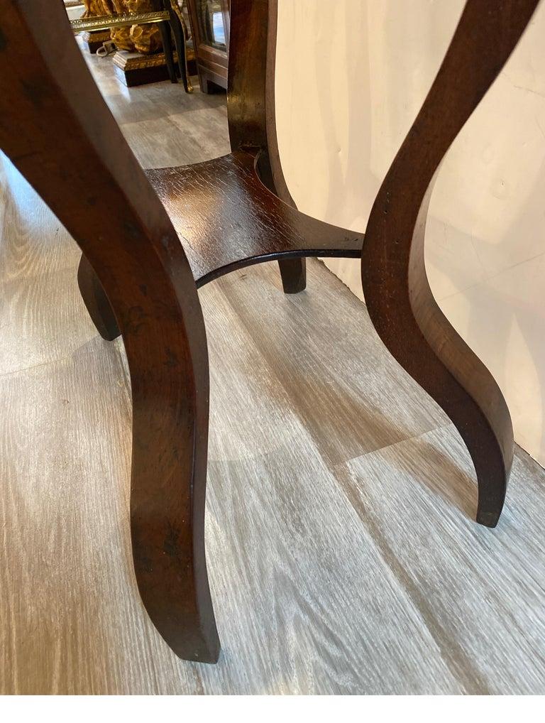 Italian 19th Century Walnut Side Table For Sale 3