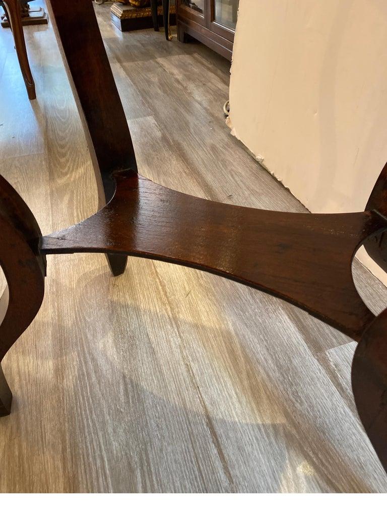 Italian 19th Century Walnut Side Table For Sale 4